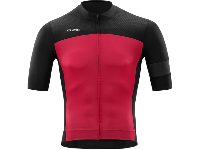 Cube Blackline Jersey Korte Mouwen Heren, black´n´red